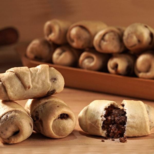 Cornulete cu maia-umplutura cu nuca (150 g)
