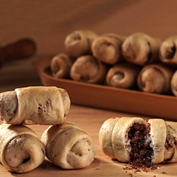 Cornulete cu maia, nuca si cacao-de post (150 g)