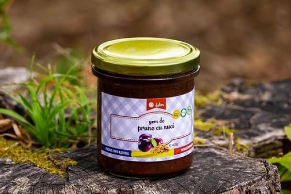 Gem de prune cu nuca (95% prune, 5% nuci)