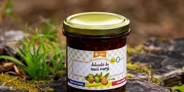 Dulceata de nuci verzi (67,9% nuci verzi, 10,8% zahar)
