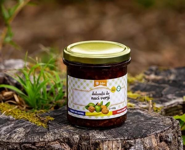 Dulceata de nuci verzi (67,9% nuci verzi, 10,8% zahar) (400 g)