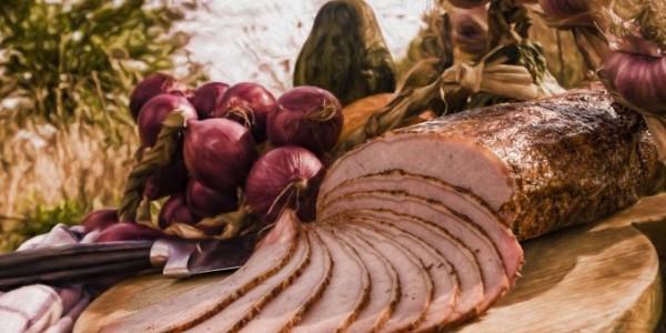 Ceafa de porc afumata si coapta