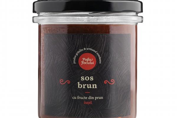 Sos Brun cu fructe din prun - iuțel