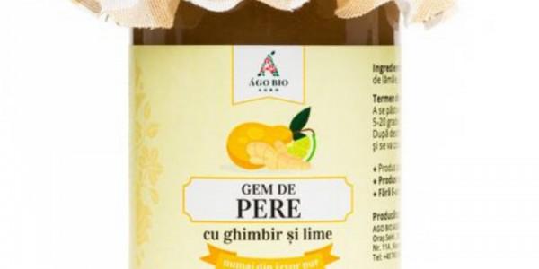 Gem de pere cu ghimbir si lime din Maramures