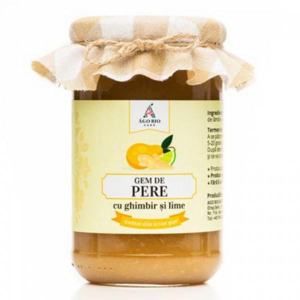 Gem de pere cu ghimbir si lime din Maramures (300 g)
