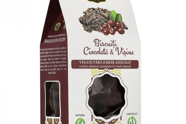 Biscuiți Vegani Ciocolată & Vișine