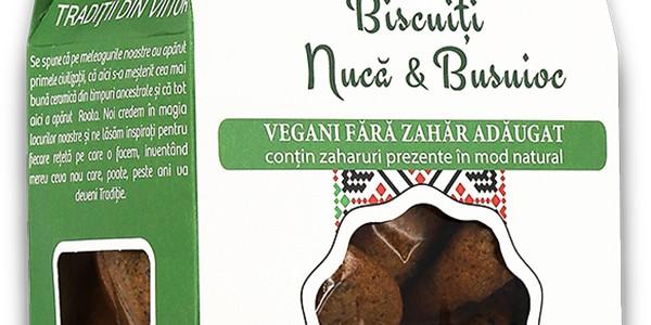 Biscuiți Vegani Nucă & Busuioc