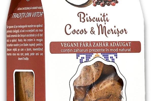 Biscuiți Vegani Cocos & Merisor