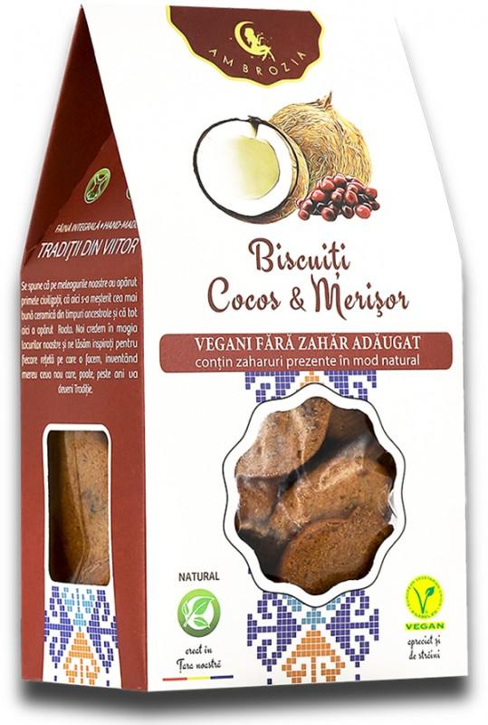 Biscuiți Vegani Cocos & Merișor (150 g)