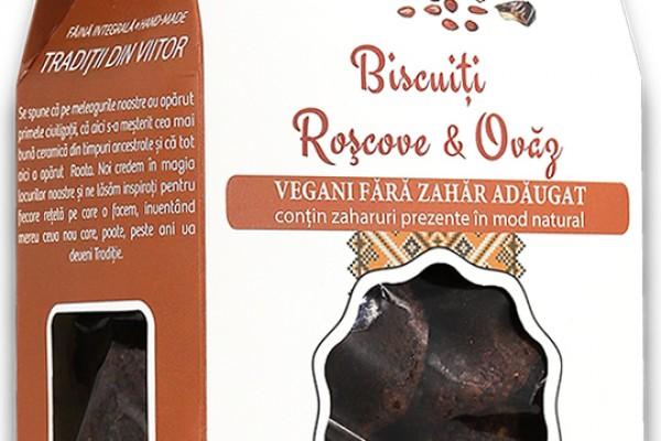 Biscuiți vegani roșcove & ovăz