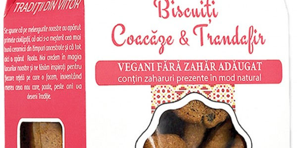 Biscuiți vegani Coacăze & Trandafiri