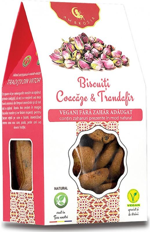 Biscuiți vegani Coacăze & Trandafiri (150 g)