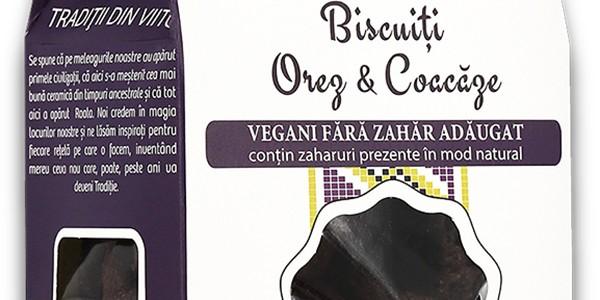 Biscuiți vegani Orez & Coacăze