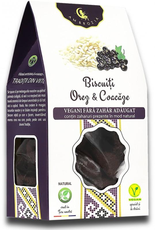 Biscuiți vegani Orez & Coacăze (150 g)
