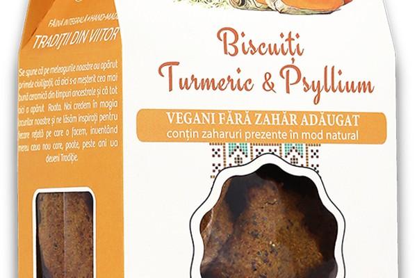 Biscuiți vegani turmeric & psyllium
