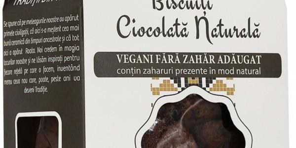 Biscuiți vegani Ciocolată Naturală