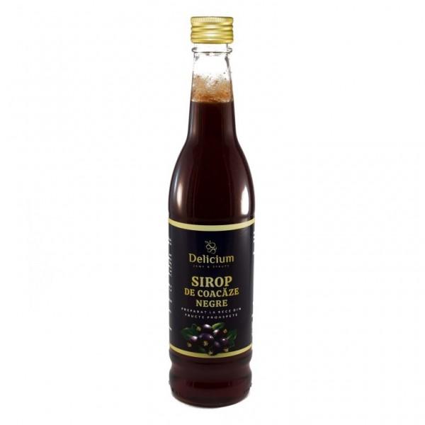 Sirop de coacăze negre (preparat la rece)