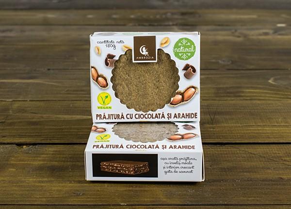 Prăjitură cu ciocolată naturală și arahide (150 g)