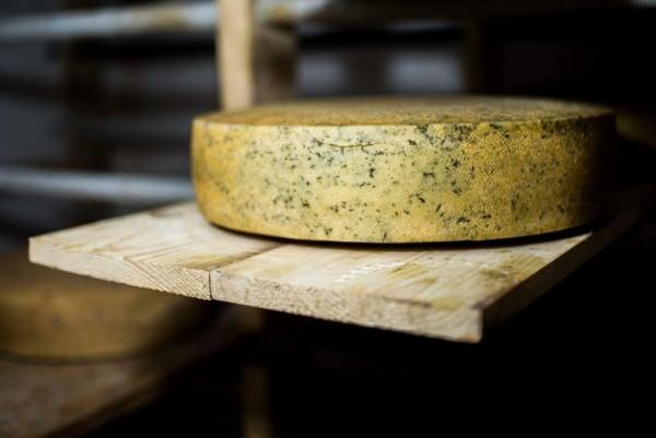 Brânză maturată cu leurdă (0.25 kg)