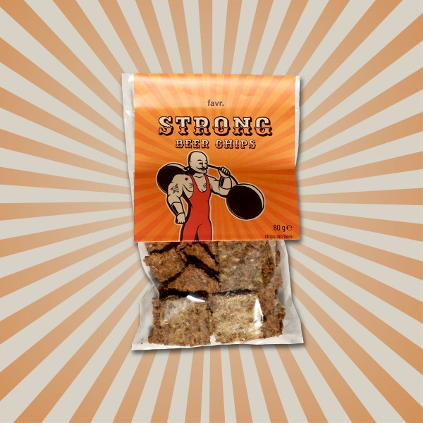Strong beer chips (80 g)