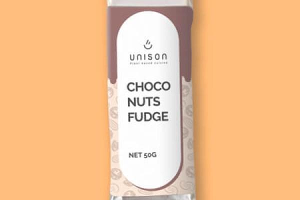 Baton raw vegan Choco Nuts Fudge