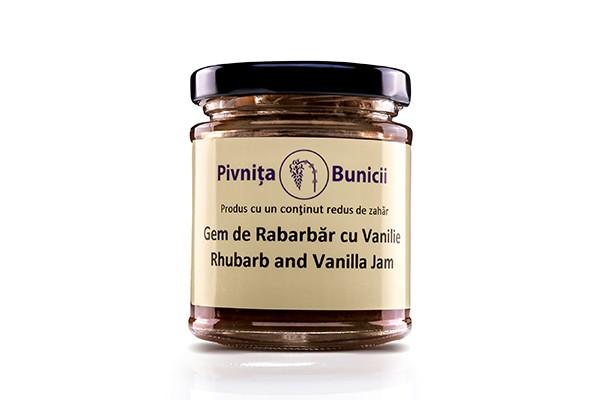 Gem de rabarbar cu vanilie