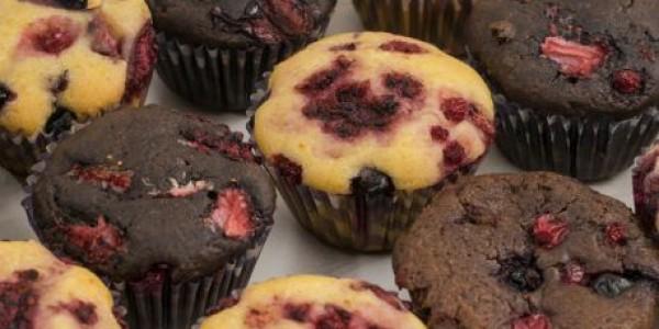 Muffins cu fructe de pădure