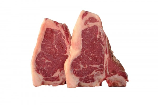 Steak T-bone vită grass fed maturata Angus