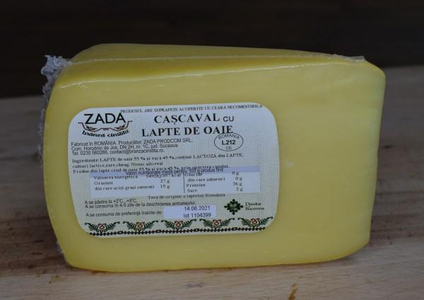 Cașcaval maturat din lapte de oaie și vacă (55% lapte oaie) (0.4 kg)