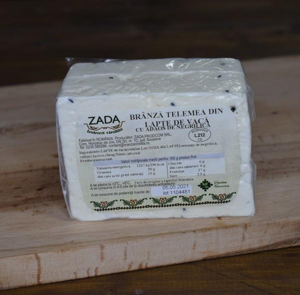 Telemea maturată din lapte de vacă cu negrilică (0.4 kg)